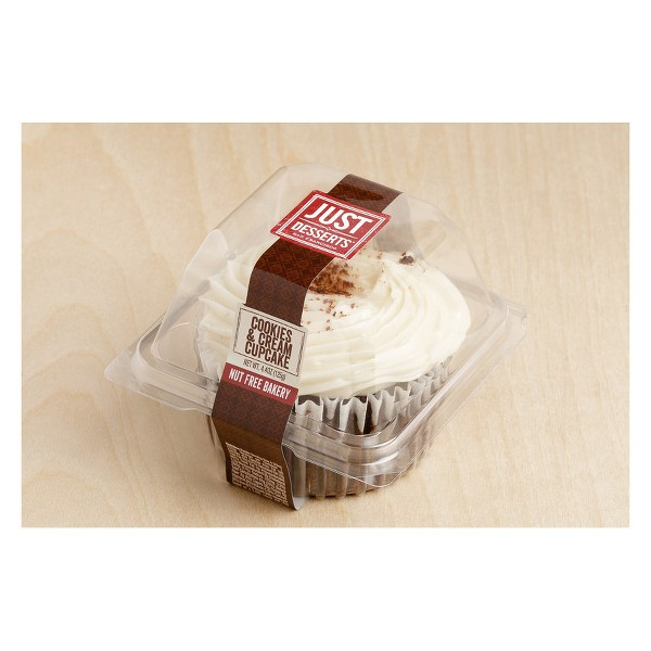 Just Desserts All Natural Cookies & Crème Cupcake - 4.4oz