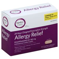 Signature Allergy Relief, 24 Hour, Original Prescription Strength, 180 mg, Tablets