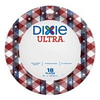 "Dixie Ultra 10"" Rustic Plaid Paper Plates - 18ct"