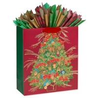 Christmas Classic Gift Bag with Tissue Paper - PAPYRUS