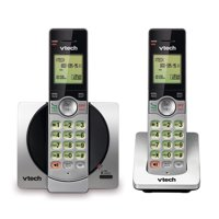 VTech CS6919-2 DECT 6.0 Expandable Cordless Phone with Caller ID and Handset Speakerphone, 2 Handsets, Silver/Black