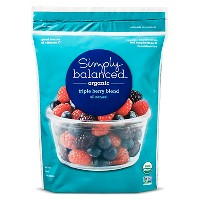 Organic Frozen Triple Berry Blend - 40oz - Simply Balanced™
