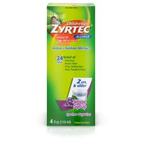 Zyrtec Children's Children's Zyrtec Allergy Syrup, Dye-Free, Sugar-Free Grape