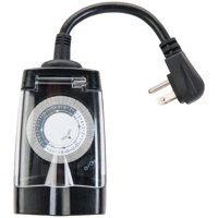 Hyper Tough Single Outlet All-Weather Outdoor Timer