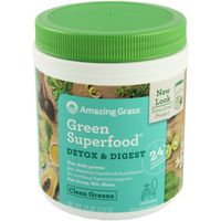 Amazing Grass Green Superfood, Clean Greens, Detox & Digest