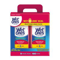 Wet Ones Antibacterial Hand Wipes Travel Pack, 20 x 9 pk