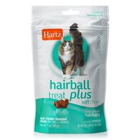 Hartz Hairball Remedy Plus Soft Chews for Cats, 3 oz.