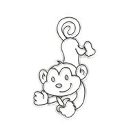 Kids Craft Monkey Sun Catcher, 1 Each