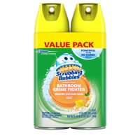Scrubbing Bubbles Bathroom Grime Fighter Aerosol, Citrus, 20 oz, 2 ct