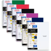 Five Star 1 Subject College Ruled Notebook,11' x 8 1/2', Assorted (08967)
