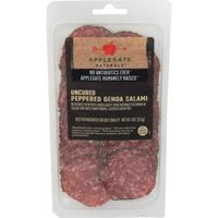 Applegate Uncured Peppered Genoa Salami