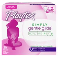 Playtex Simply Gentle Glide Tampons, Unscented, Ultra, 36 Ct