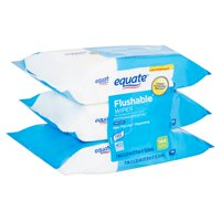 Equate Fresh Scent Flushable Wipes, 3 pack, 144 count