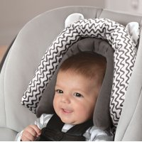 On the Goldbug 2-in-1 Infant Head Support, Baby Car Seat Liner, Grey Squiggle