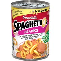 Campbell's SpaghettiOs Canned Pastawith Franks, 15.6 oz.