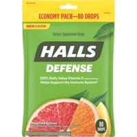 Halls Defense, Assorted Citrus Vitamin C Drops, 80 pcs