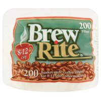 (6 pack) Brew Rite 8-12 Cup Basket Style Coffee Filters, 200 Ct