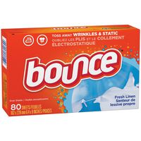Bounce Fabric Softener Dryer Sheets, Fresh Linen