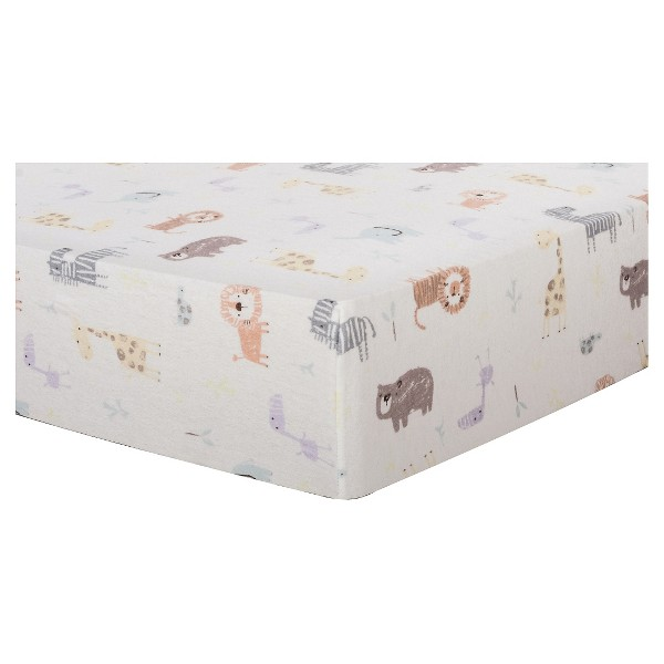 Trend Lab Deluxe Flannel Fitted Crib Sheet - Crayon Jungle