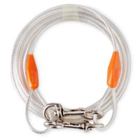 Vibrant Life Reflective Vinyl-Covered Tie-Out Cable for Dogs, 25', (Large)