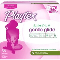 Playtex Simply Gentle Glide Tampons - Plastic - Unscented - Super - 36ct