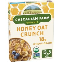 Cascadian Farm Honey Oat Clusters Breakfast Cereal - 13.5oz