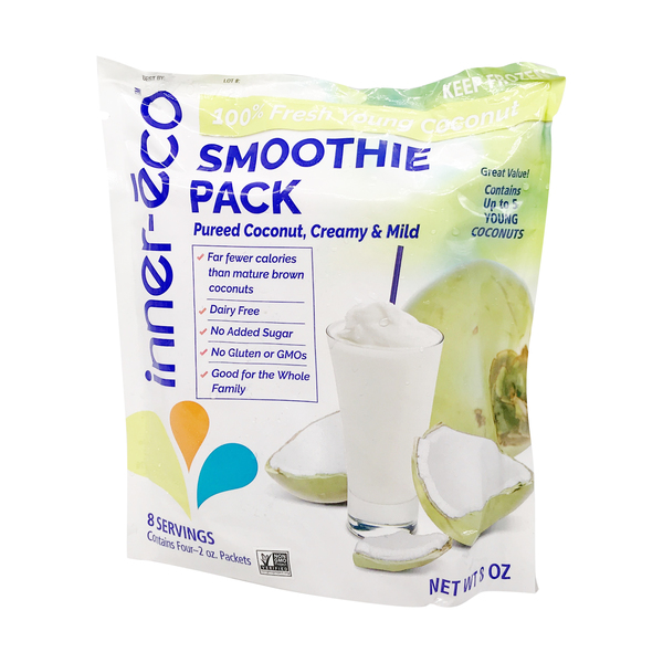 Inner-eco Coconut Smoothie Packs, 8 oz
