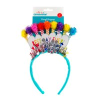 Way to Celebrate! Best Day Ever Glitter Pom Candle Head Bopper