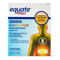 Equate Extra Strength Cool & Heat Medicated Patch, 5 Count