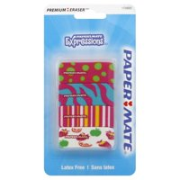 Paper Mate Pink Expressions Erasers, 4-Count