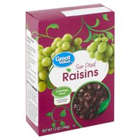 Great Value Sun-Dried Raisins, 12 oz