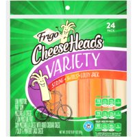Frigo Cheese Heads Mozzarella String Cheese, Swirls and Colby Jack Cheese Sticks 20 oz., 24 Count