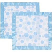 MiracleWare Elephant Muslin Security Blanket Blue - 2pk