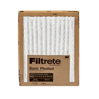 Filtrete 20X25x1, Filtrete Basic Pleated HVAC Furnace Air Filter, 100 MPR, 1 Filter