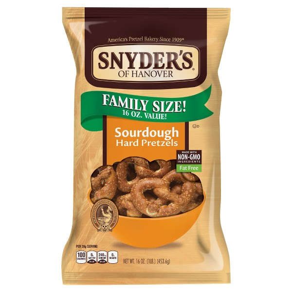 Snyder's Of Hanover The Pounder Hard Pretzels - Sourdough - 16oz