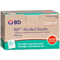 Beckton & Dickenson: W/Antiseptic & Individually Foil Wrapped Alcohol Swabs No 326895, 100 Ea