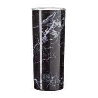 Built 20 Ounce Double Wall Stainless Steel Vacuum Insulated Tumbler, Black Marble