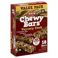 H-E-B Variety Pack Chewy Bars 18 Count