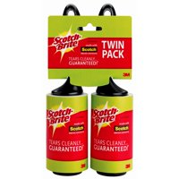 Scotch-Brite Lint Roller Twin Pack, 65 Sheets per Roller
