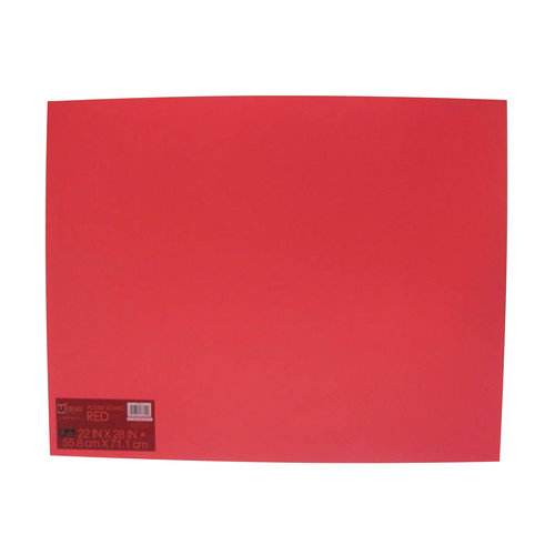 UCreate Red Poster Board Paper, 22' x 28', Single Sheet