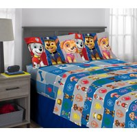 PAW Patrol Sheet Set, Kids Bedding, Microfiber, 3 Piece Twin Size
