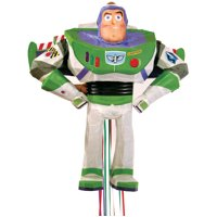 Buzz Lightyear Toy Story Pinata, Pull String, 19.5 x 17in