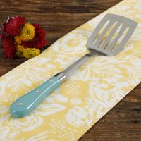 """The Pioneer Woman Frontier Collection 13"""" Teal Slotted Spatula"""