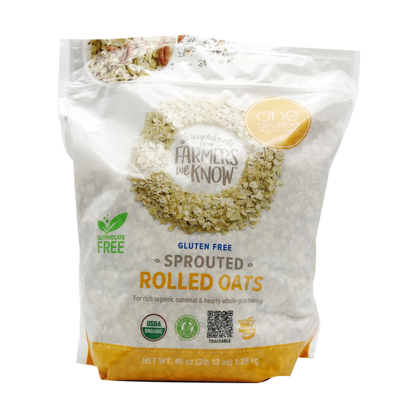 One degree organic foods Organic Sprouted Rolled Oats, 45 oz