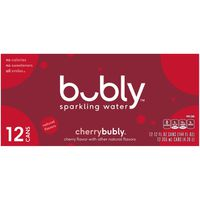 bubly Sparkling Water, Cherry, Box