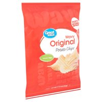 Great Value Original Wavy Potato Chips Party Size!, 15.25 oz