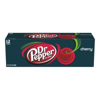 Dr Pepper Cherry Soda, 12 Fl Oz Cans, 12 Count
