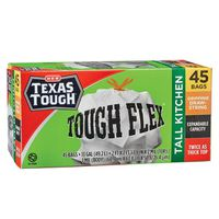 H-E-B Texas Tough Tall Kitchen Tough Flex 13 Gallon Trash Bags