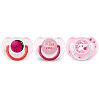 Philips Avent Classic value pack 6-18m, pink, 3-pack, SCF134/30