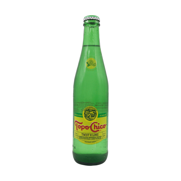 Topo chico Mineral Water With Lime, 12 fl oz